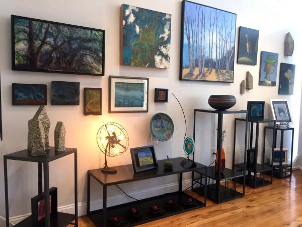 Encaustics, fibers, more ceramics, and oils