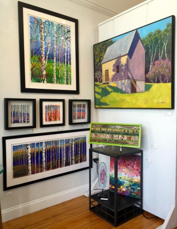 Don't you love birch trees and barns with lots of color?  We certainly do !