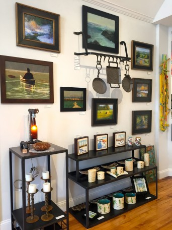 Beautiful oil paintings, blacksmithing, and ceramics