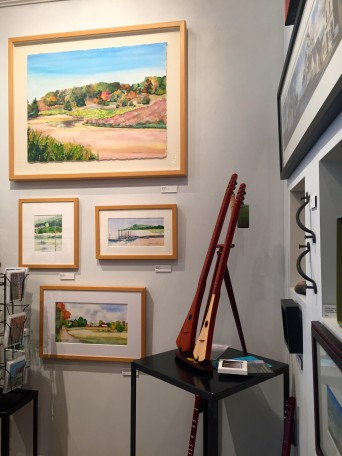 wonderful watercolors and musical instruments too !